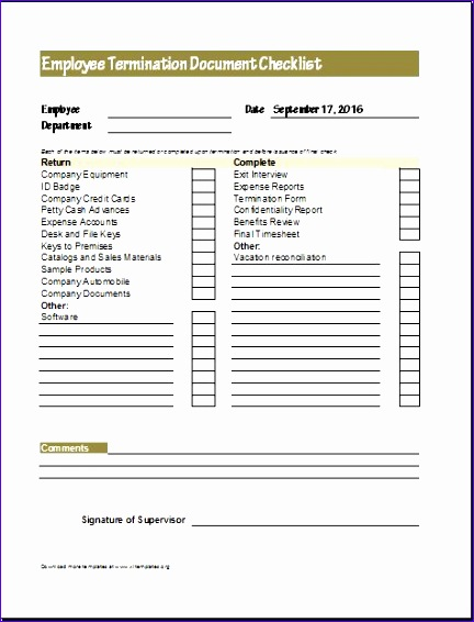 Document Checklists for New Terminated Employee Kzlwc Lovely Document Checklists for New & Terminated Employee
