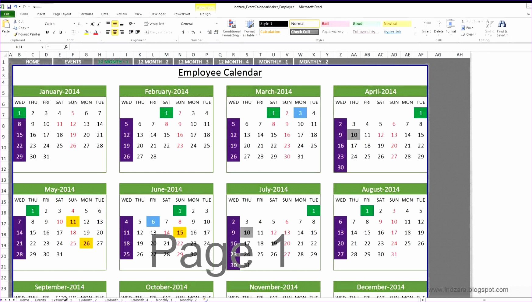 Dynamic Dashboard Template In Excel Vlkhp Elegant event Calendar Maker Excel Template