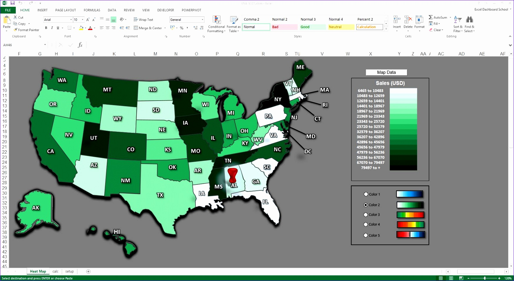 Dynamic Dashboard Template In Excel Wjrye Awesome Creating Map Visualization Excel Kpi Dashboards and Power Maps