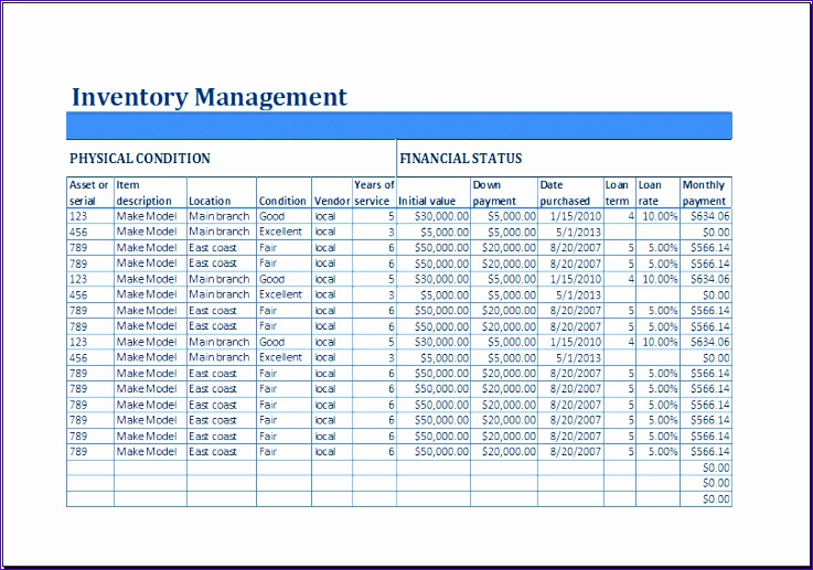 Employee Equipment Inventory Sheet Ixgka Ideas Excel Business Inventory Management Template