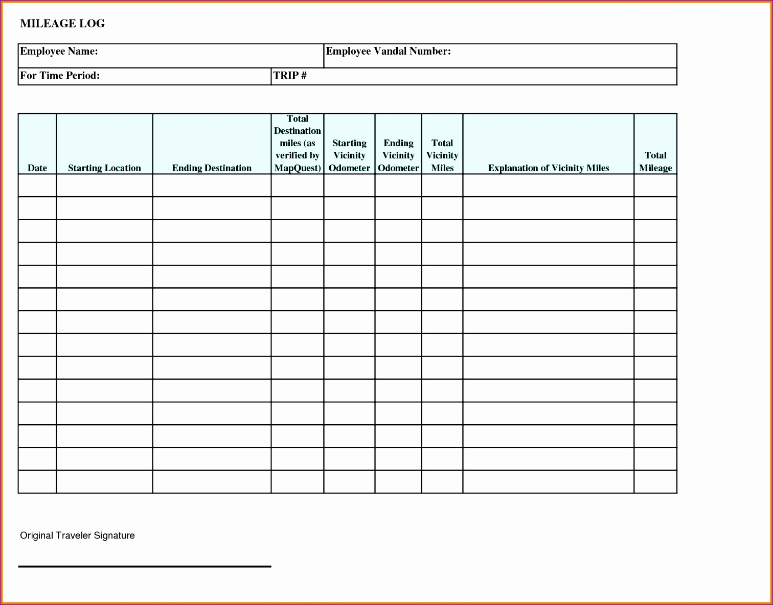 Employee Sign In Sheet Template Excel Eheex Inspirational 4 Mileage Log Sheet