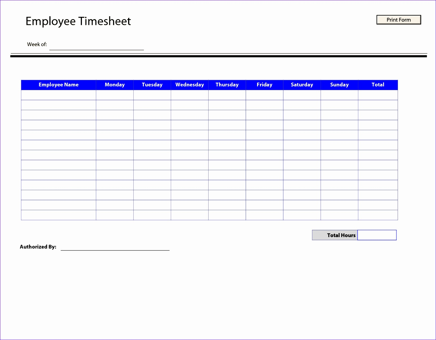 Employee Sign In Sheet Template Excel Vaief New Printable Time Sheets