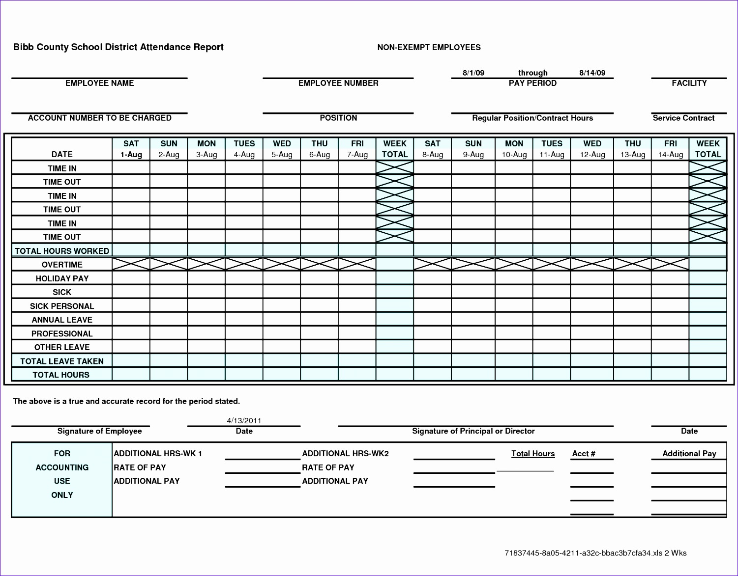 Employee Time Card F8dcc Elegant Excel Time Card Template
