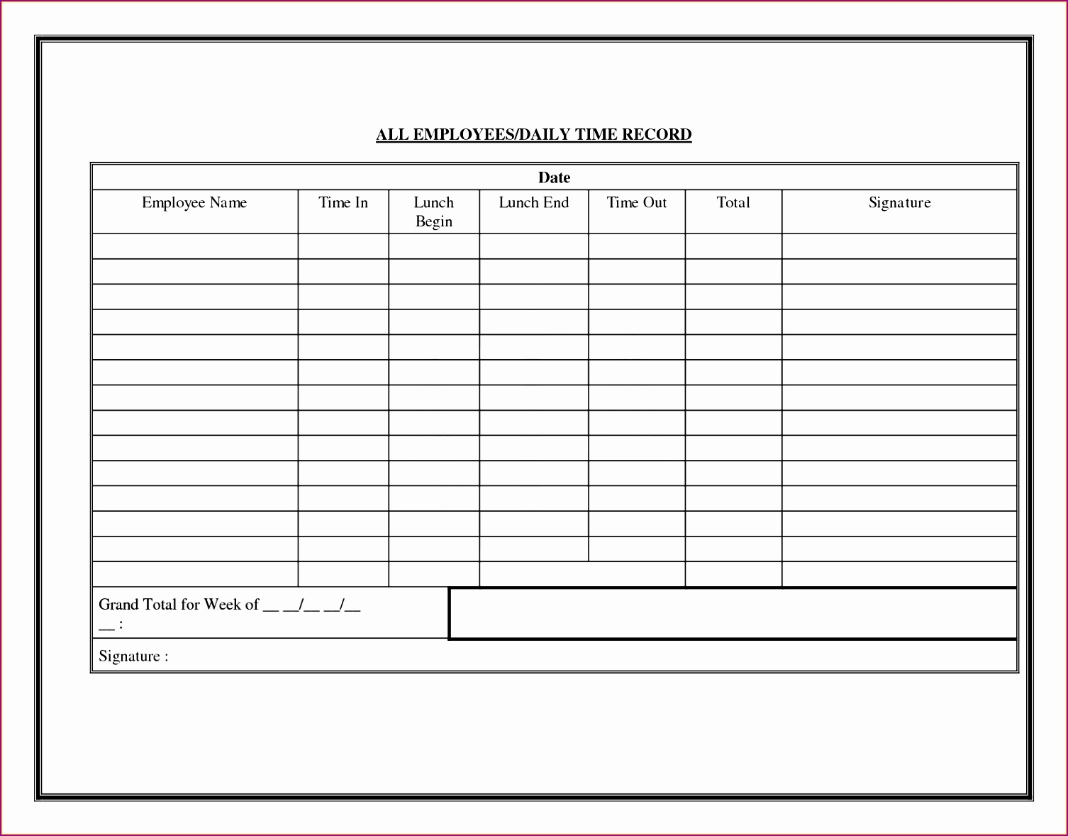 Employee Time Card Geahd Unique Card Daily Time Card Template