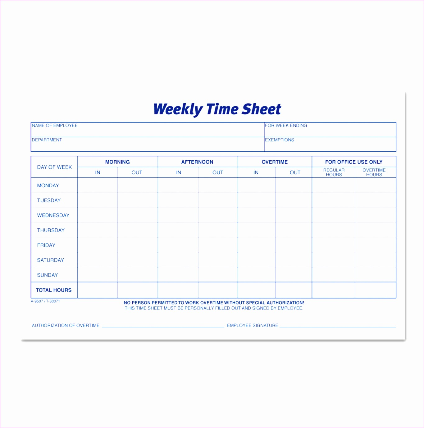 Employee Time Card Tnxrx Elegant Weekly Time Sheets by tops™ top Timesupplies