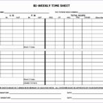 Employee Time Card Vcwga Awesome 6 Bi Weekly Timesheet Template