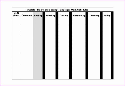 Employee Hourly Work Schedule Template Excel Download