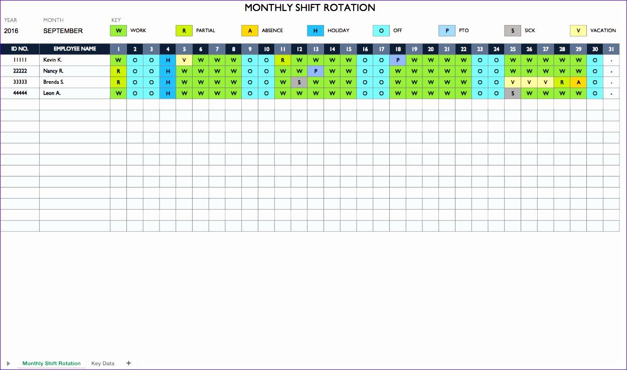 Temp WorkScheduleShiftRotation