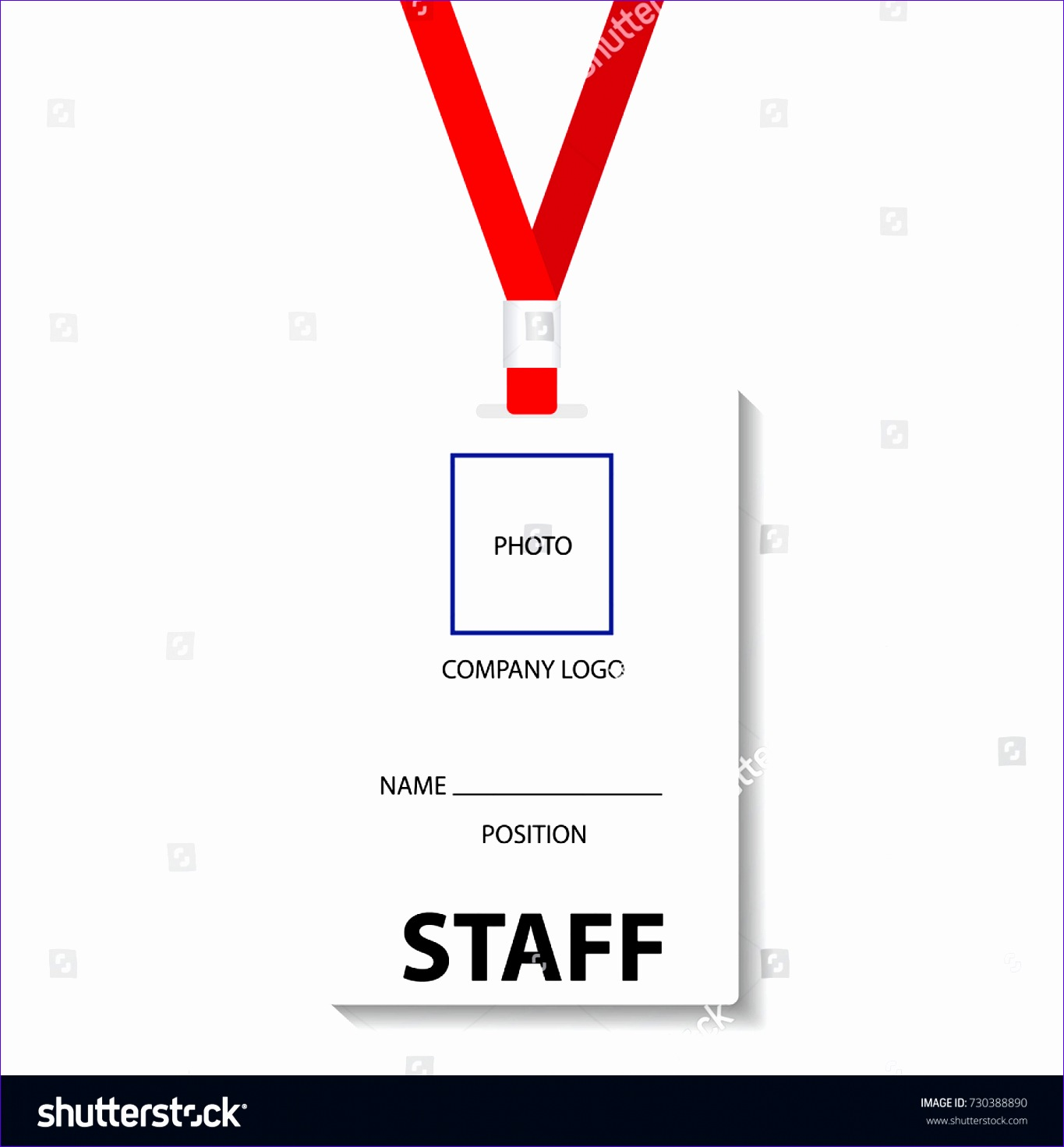 stock vector blank template staff or employee identification card vector illustrations