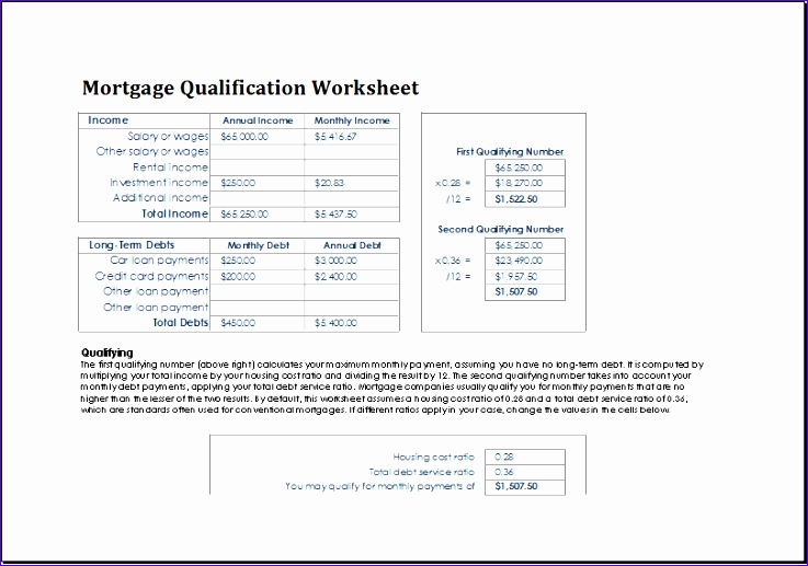 Equity Reconciliation Report Template Vkswm New Ms Excel Mortgage Qualification Worksheet Template