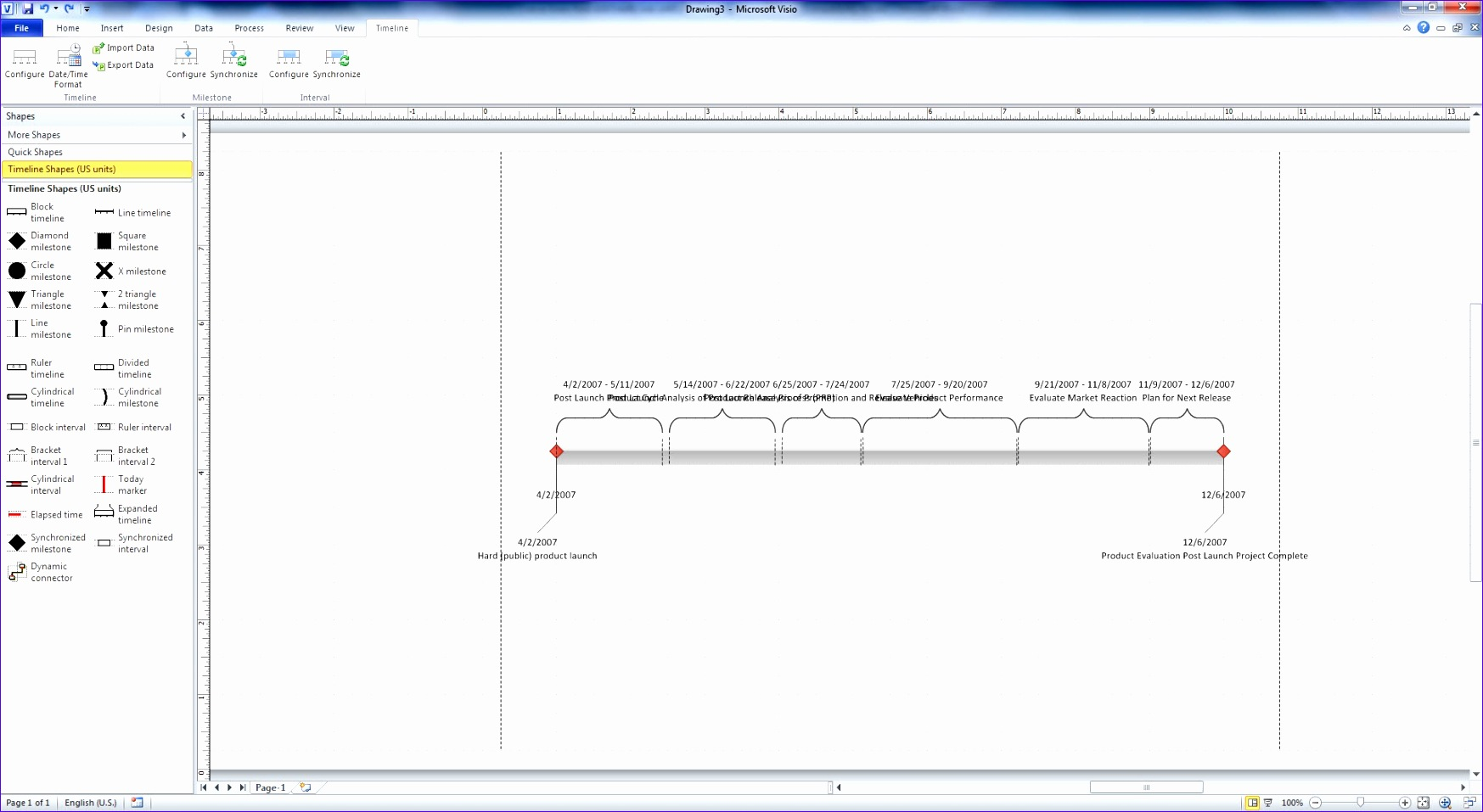 Excel 2007 Timeline Template Otgad Fresh Use Visio 2010 for Visualizing and Presenting Project Schedules