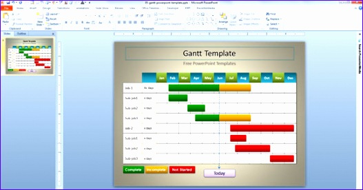 simple gantt template design ppt