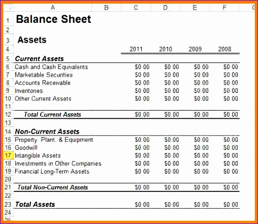Excel Balance Sheet and Income Statement Template Cgfsv Unique Business Statement Template Free Capability Statement Template