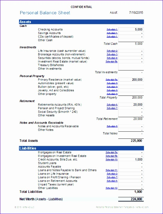 Excel Balance Sheet and Income Statement Template Oeeon Best Of Personal Financial Statement for Excel