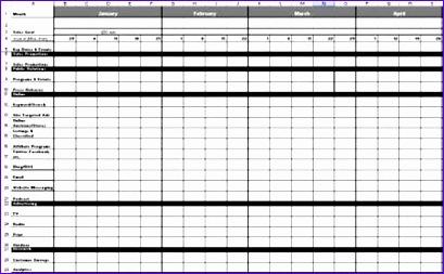 marketing calendar templates