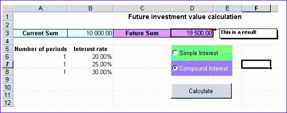 Excel Compound Interest Template Njdu5 Best Of Calculation With