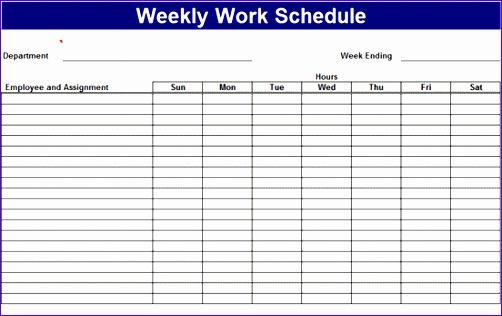 excel work schedule template 3