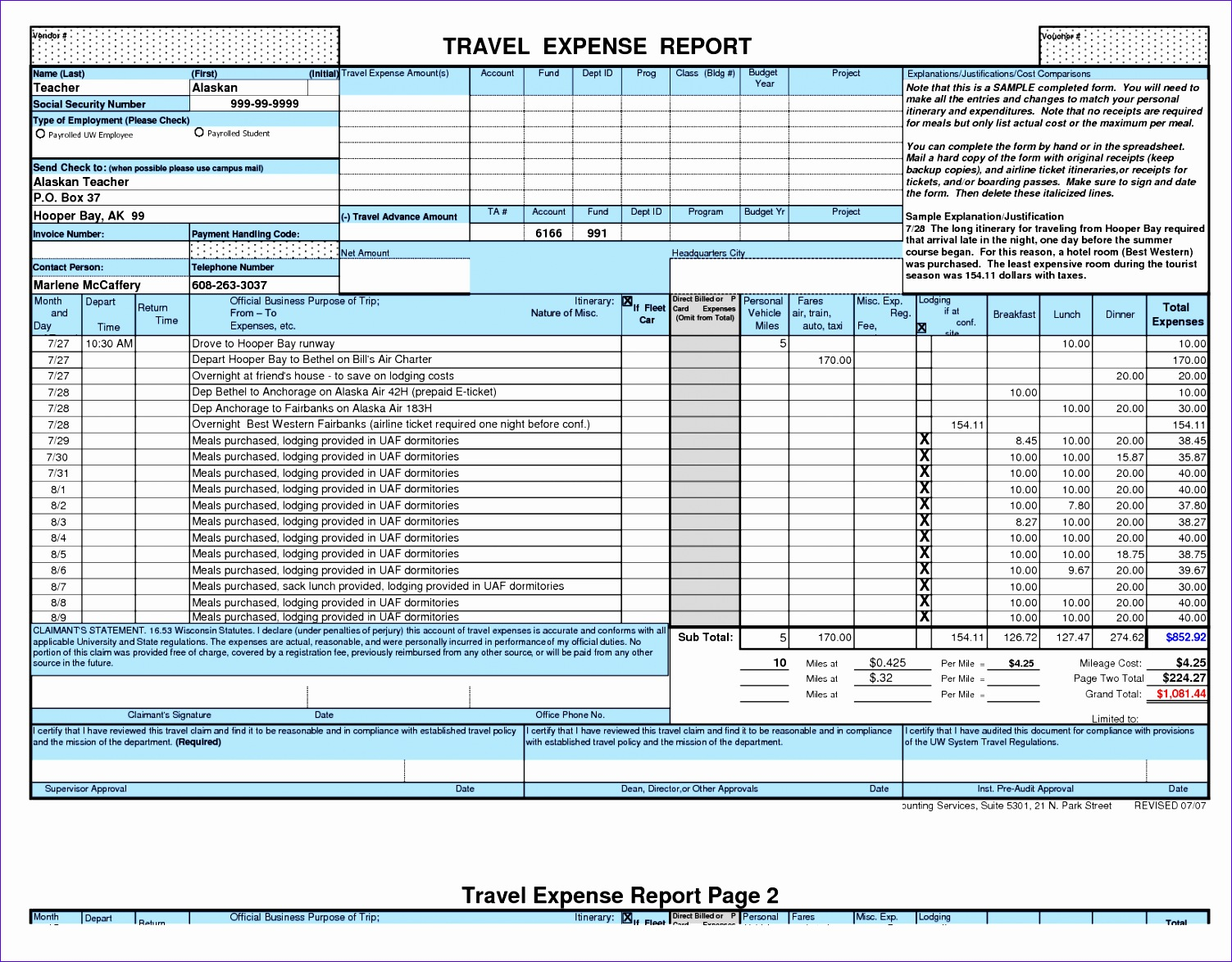 excel expense report 2