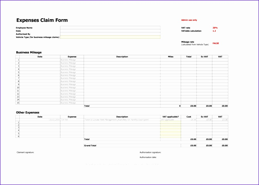 10 excel expenses template uk - exceltemplates