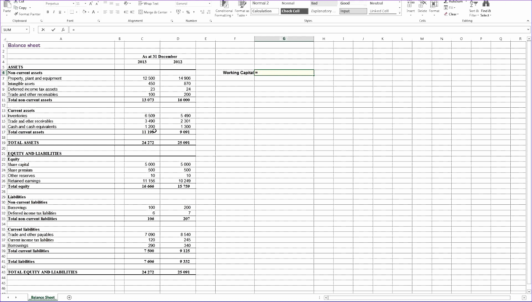 Excel Financial Statement Template Btrqo Fresh Calculating Working Capital In Excel