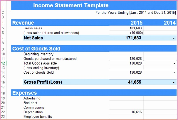 Excel Financial Statement Templates Ozoww Beautiful 5 In E Statement Template Excel