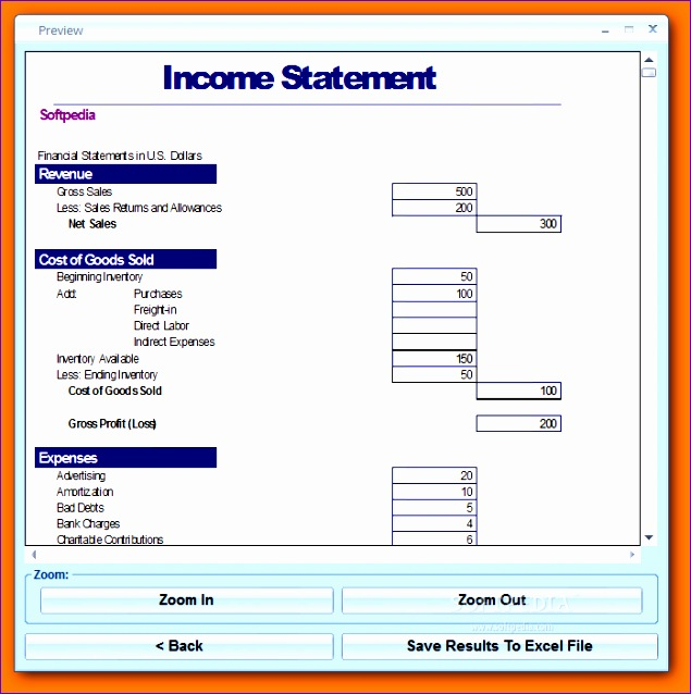 Excel Financial Statement Templates Ukyfc Fresh 8 In E Statement Excel Template