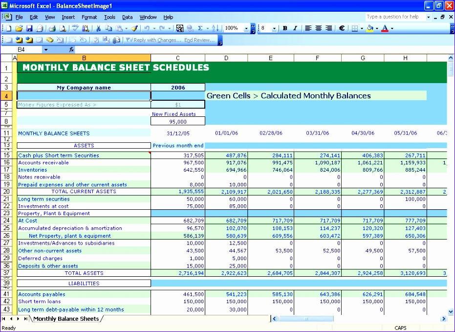 Excel Financial Statements Template Gplsk Elegant Balance Sheet Template