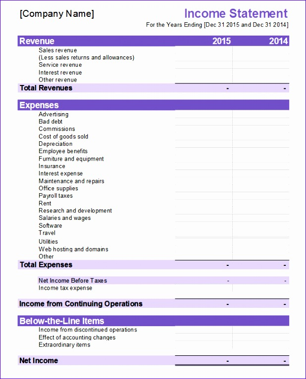 Excel Financial Statements Template Wpzqc Elegant Financial Statement Template 20 Free Pdf Excel Word Documents