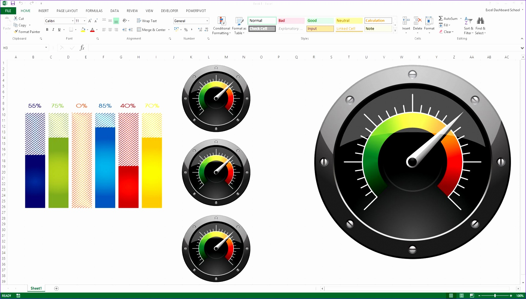Excel Gauge Chart Template Bgahn Beautiful Creating Kpi Dashboard with Gauges Excel Dashboard Templates