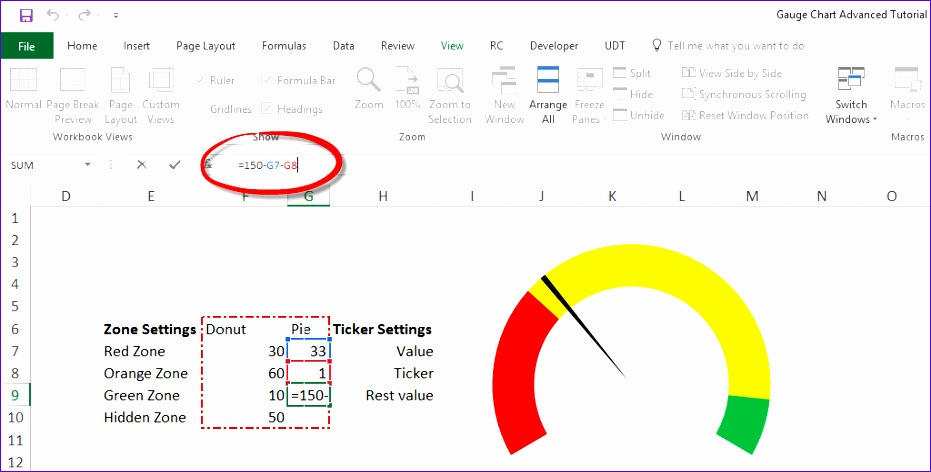 Excel Gauge Chart Template Wkpus Best Of Gauge Chart Excel Tutorial Step by Step Training
