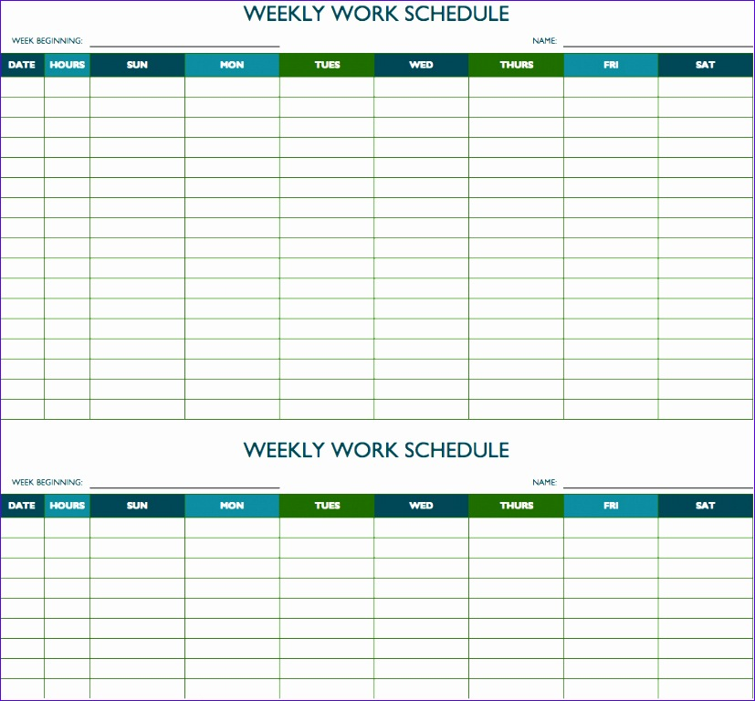 Excel Hourly Schedule Template Evoea Unique Schedule Template Time  Management Weekly Schedule Template