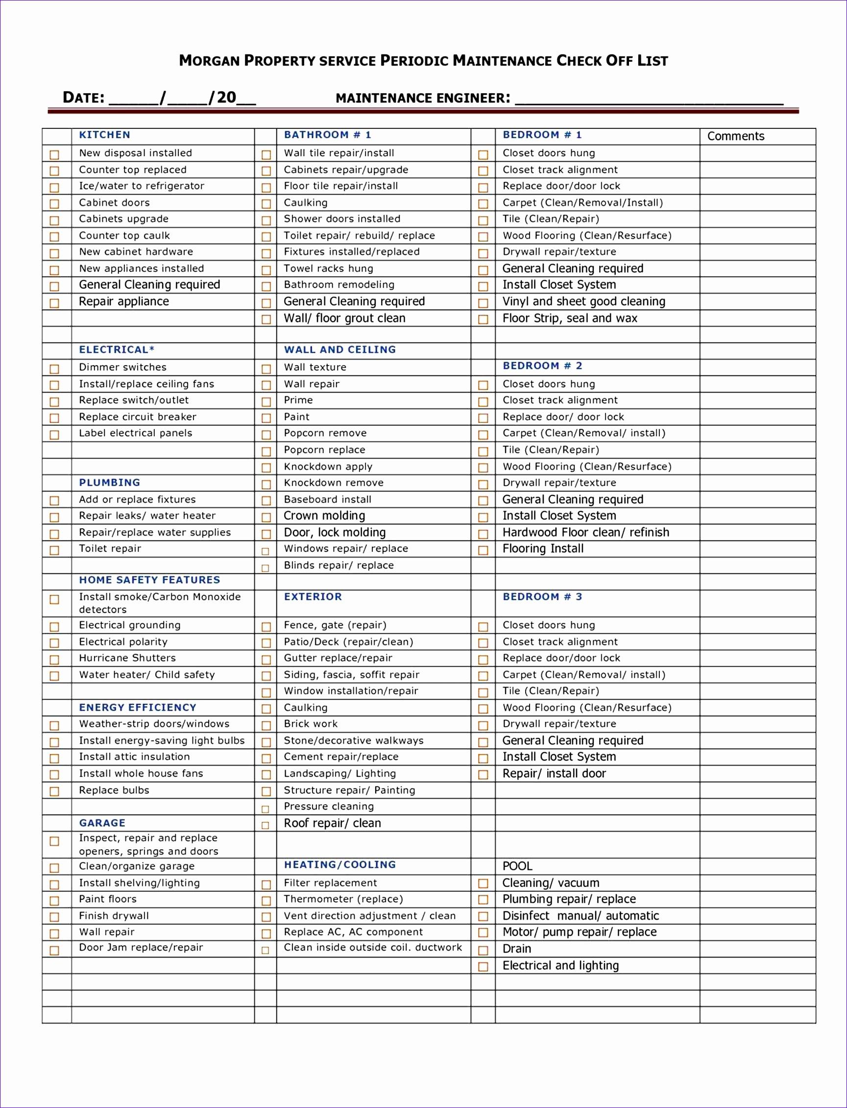 house Home Repair Checklist Template inspection checklist template home rental maintenance printable logo home Home Repair Checklist Template maintenance checklist printable