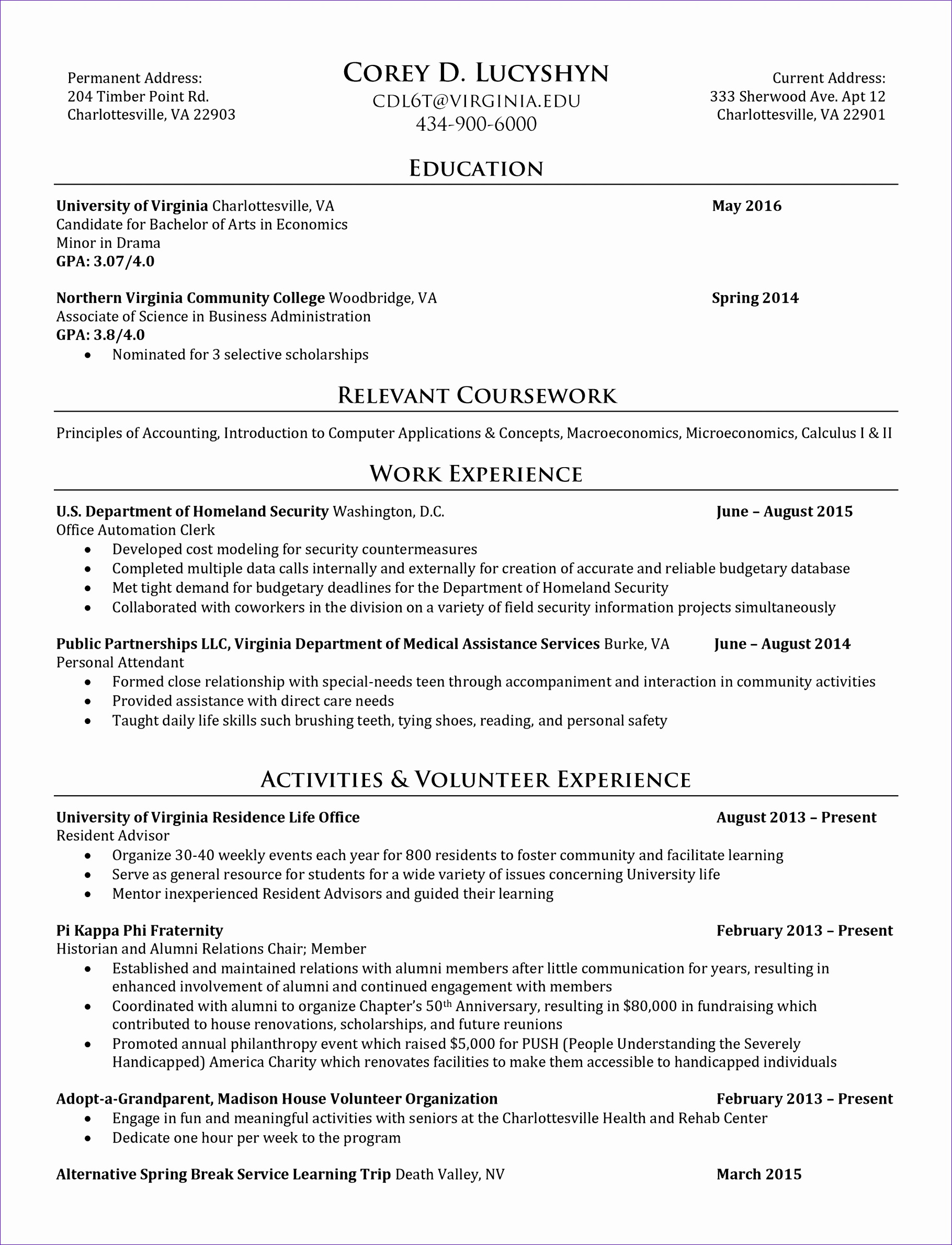 information technology resume template