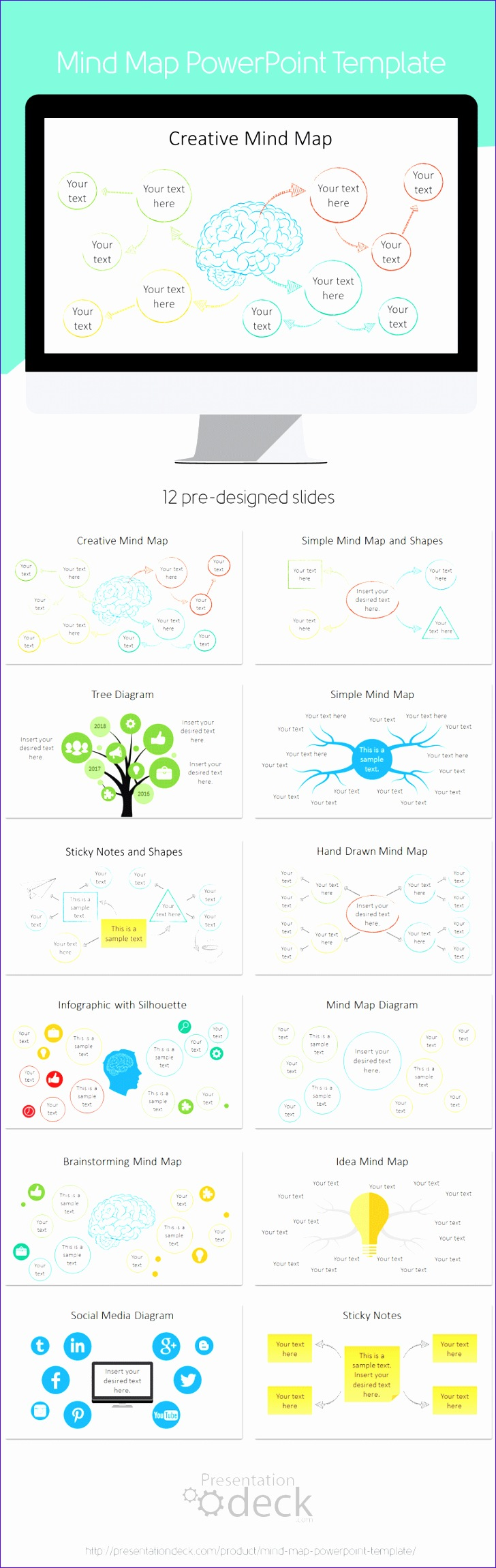 Excel Mind Map Template K2lbl Elegant Mind Map Powerpoint Template