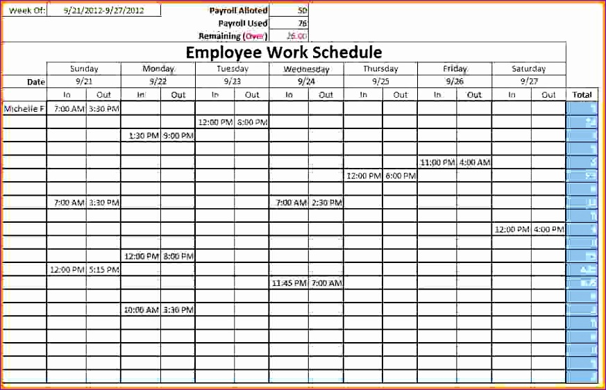 monthly schedule templates employeeworkschedule templatesample net