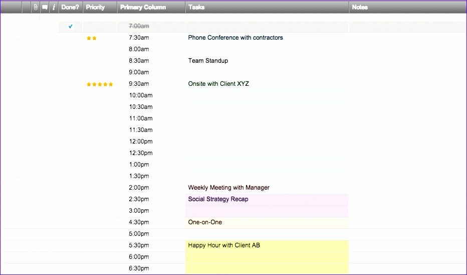 8 DailyScheduleTemplatesSmartsheet EN