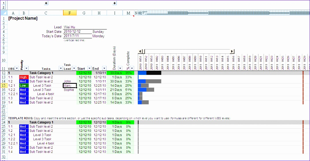 Excel Simple Gantt Chart Template Vhynk Elegant Wei My Simple Excel Gantt Chart Template