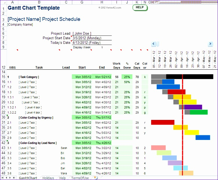 Excel Simple Gantt Chart Template Wdcks New Gantt Chart Template Pro for Excel