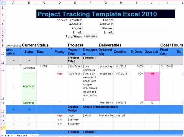 Excel Spreadsheet Templates for Tracking Jvkuu Elegant Task Tracking Template Spreadsheet Example Building Project