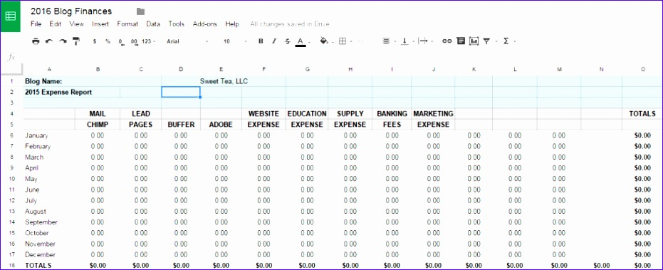 Excel Spreadsheet Templates for Tracking Wunhl Luxury Tracking Blog In E & Expenses with Free Spreadsheet Template