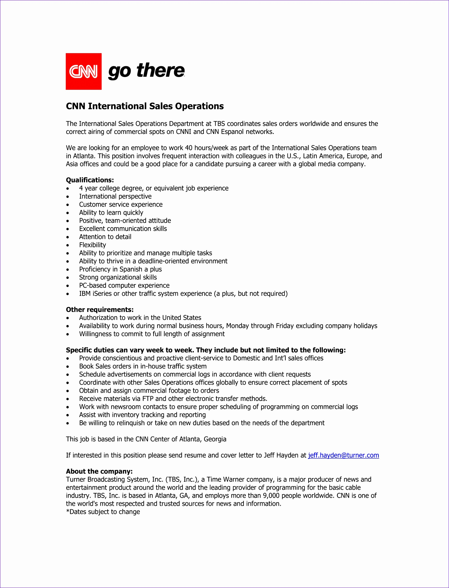 CNNI Sales Operations Job Ad 2016 1