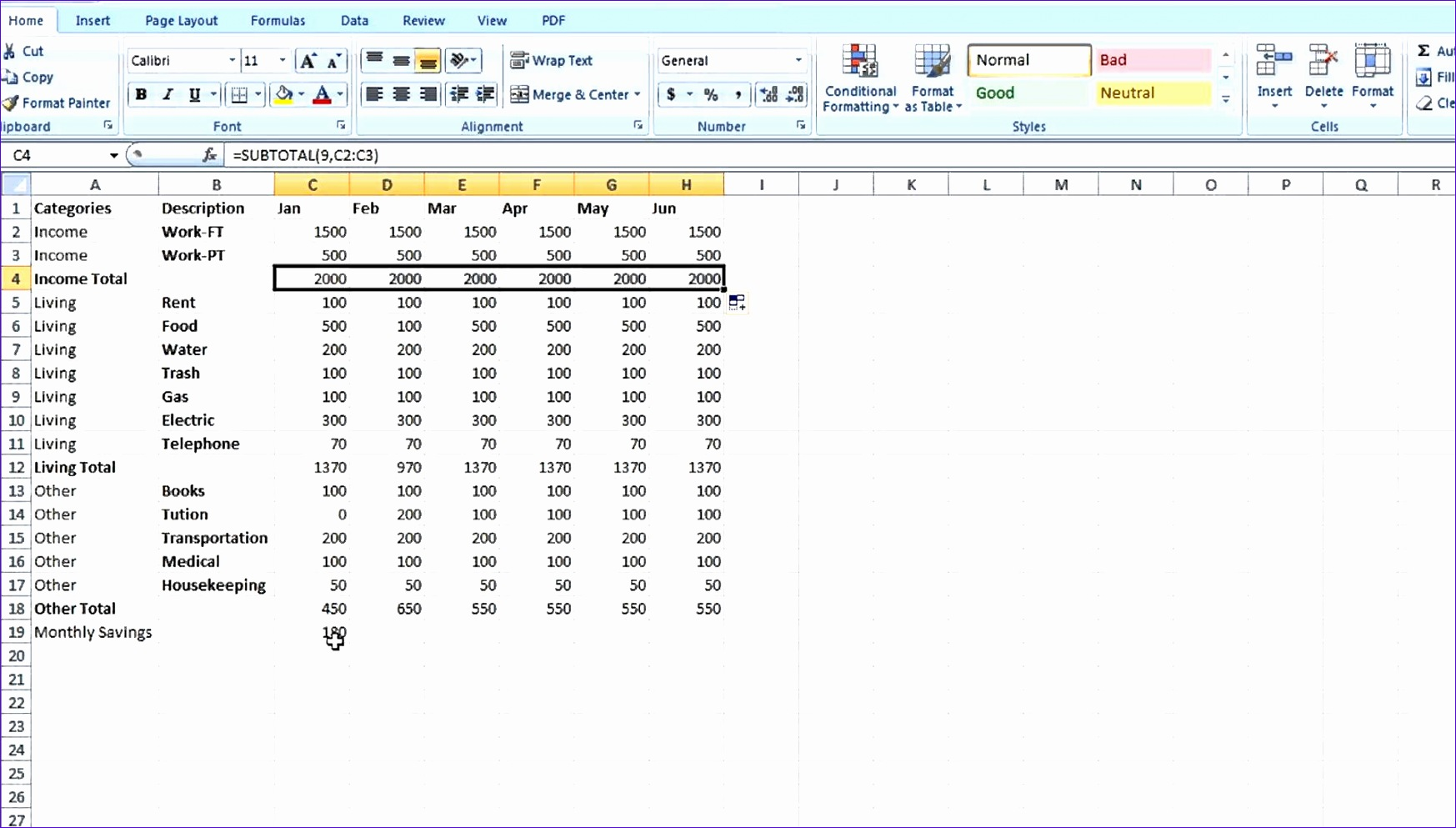 how to create an excel spreadsheet with formulas 1