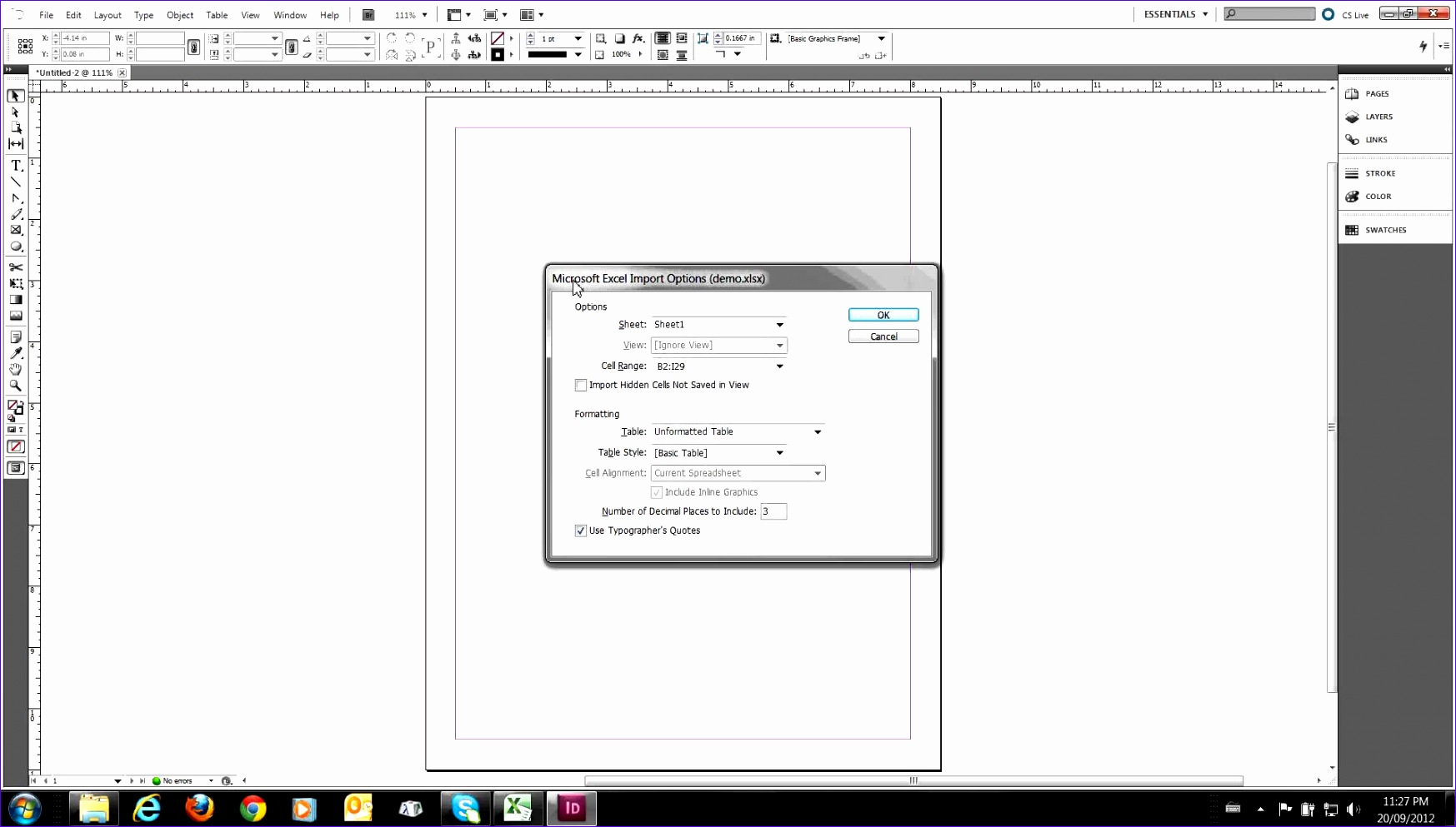 Excel Table Of Contents Template Fkzxr Lovely Placing An Excel Table In An Indesign Document