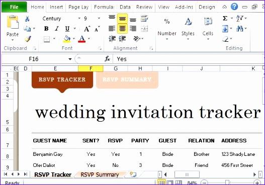 Elegant and Beautiful Wedding Invite List Tracker
