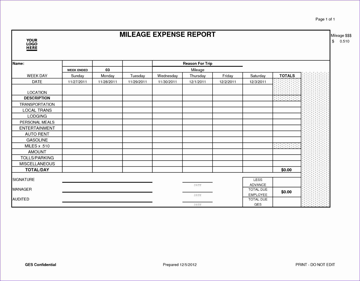 misc online list of business expenses template and free printable mileage reimbursement form