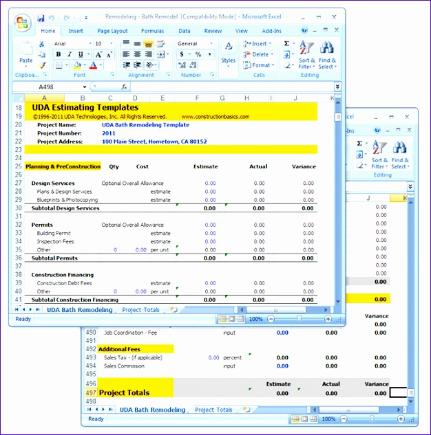 Excel Templates for Construction Estimating Gbwll New Images Cs Rem Detailed 689x68