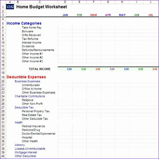 Excel Templates for Home Budget Ewall Fresh Home Bud Worksheet Template