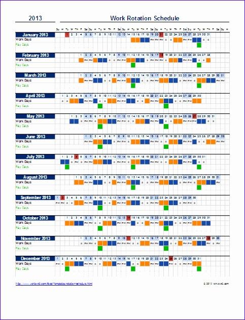 work rotation schedule
