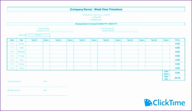 timesheet template weekly