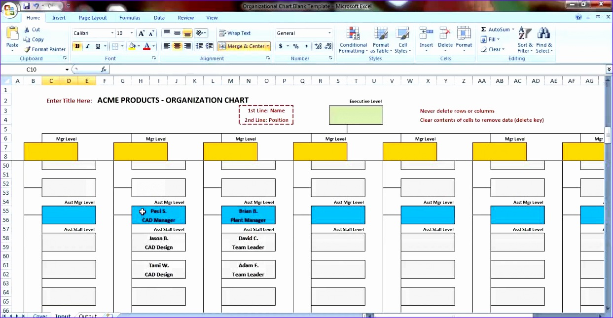 organization chart in excel sample gallery how to guide and refrence. Black Bedroom Furniture Sets. Home Design Ideas